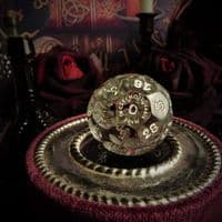 'Mahsa' Crystal Fortune Telling Ball  Die or Dice (Large)